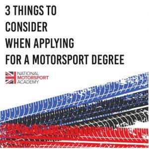 Choosing a Motorsport Degree