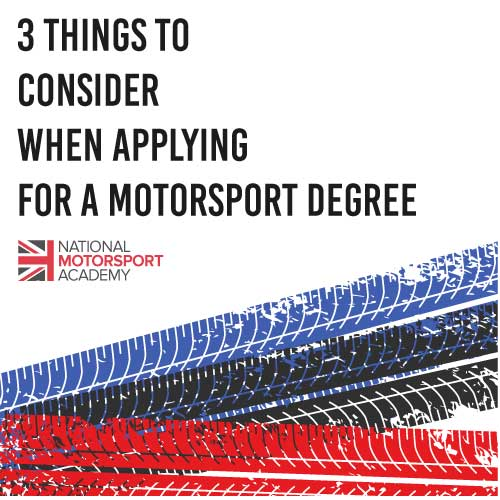 Choosing a Motorsport Degree